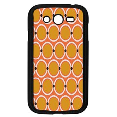 Orange Circle Polka Samsung Galaxy Grand Duos I9082 Case (black) by Mariart