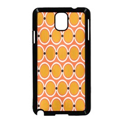 Orange Circle Polka Samsung Galaxy Note 3 Neo Hardshell Case (black) by Mariart