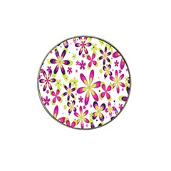 Star Flower Purple Pink Hat Clip Ball Marker (4 Pack) by Mariart