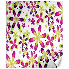 Star Flower Purple Pink Canvas 20  X 24   by Mariart