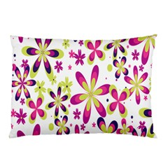 Star Flower Purple Pink Pillow Case by Mariart
