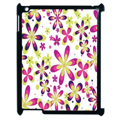 Star Flower Purple Pink Apple Ipad 2 Case (black) by Mariart