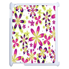 Star Flower Purple Pink Apple Ipad 2 Case (white) by Mariart