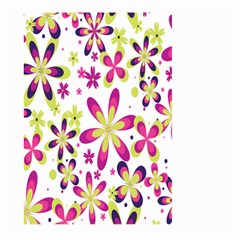 Star Flower Purple Pink Large Garden Flag (two Sides) by Mariart