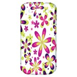 Star Flower Purple Pink Samsung Galaxy S3 S III Classic Hardshell Back Case Front