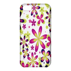 Star Flower Purple Pink Apple Iphone 5c Hardshell Case by Mariart