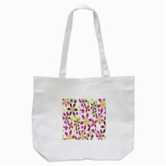 Star Flower Purple Pink Tote Bag (white) by Mariart