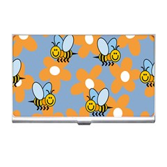 Wasp Bee Honey Flower Floral Star Orange Yellow Gray Business Card Holders by Mariart