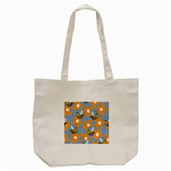 Wasp Bee Honey Flower Floral Star Orange Yellow Gray Tote Bag (cream) by Mariart