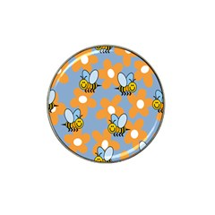 Wasp Bee Honey Flower Floral Star Orange Yellow Gray Hat Clip Ball Marker