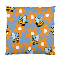 Wasp Bee Honey Flower Floral Star Orange Yellow Gray Standard Cushion Case (one Side) by Mariart