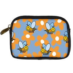 Wasp Bee Honey Flower Floral Star Orange Yellow Gray Digital Camera Cases by Mariart