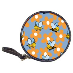 Wasp Bee Honey Flower Floral Star Orange Yellow Gray Classic 20 Cd Wallets by Mariart