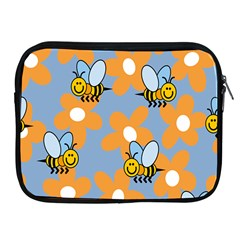 Wasp Bee Honey Flower Floral Star Orange Yellow Gray Apple Ipad 2/3/4 Zipper Cases by Mariart