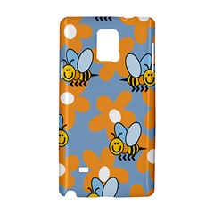 Wasp Bee Honey Flower Floral Star Orange Yellow Gray Samsung Galaxy Note 4 Hardshell Case by Mariart