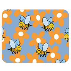 Wasp Bee Honey Flower Floral Star Orange Yellow Gray Double Sided Flano Blanket (medium)  by Mariart