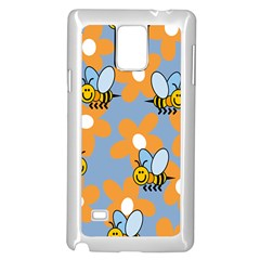 Wasp Bee Honey Flower Floral Star Orange Yellow Gray Samsung Galaxy Note 4 Case (white) by Mariart