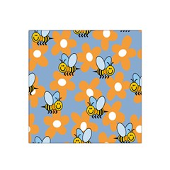 Wasp Bee Honey Flower Floral Star Orange Yellow Gray Satin Bandana Scarf by Mariart