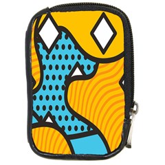 Wave Chevron Orange Blue Circle Plaid Polka Dot Compact Camera Cases