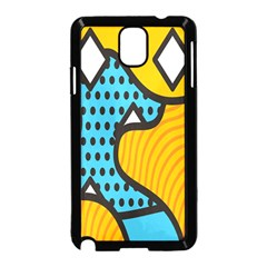 Wave Chevron Orange Blue Circle Plaid Polka Dot Samsung Galaxy Note 3 Neo Hardshell Case (black) by Mariart