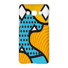 Wave Chevron Orange Blue Circle Plaid Polka Dot Samsung Galaxy A5 Hardshell Case  by Mariart