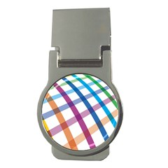 Webbing Line Color Rainbow Money Clips (round)  by Mariart