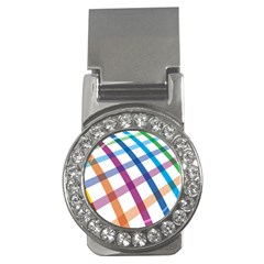 Webbing Line Color Rainbow Money Clips (cz)  by Mariart