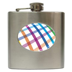 Webbing Line Color Rainbow Hip Flask (6 Oz) by Mariart