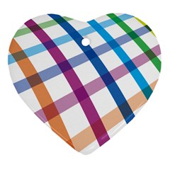 Webbing Line Color Rainbow Heart Ornament (two Sides) by Mariart