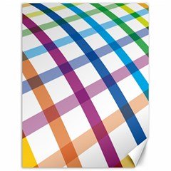 Webbing Line Color Rainbow Canvas 12  X 16   by Mariart