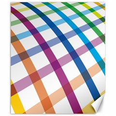 Webbing Line Color Rainbow Canvas 20  X 24   by Mariart