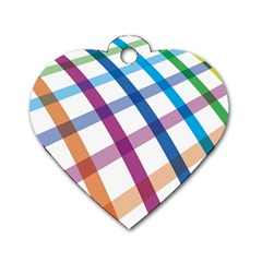 Webbing Line Color Rainbow Dog Tag Heart (two Sides) by Mariart