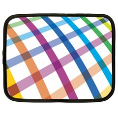 Webbing Line Color Rainbow Netbook Case (xxl)