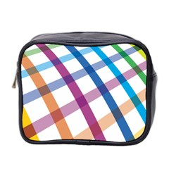 Webbing Line Color Rainbow Mini Toiletries Bag 2 Side by Mariart