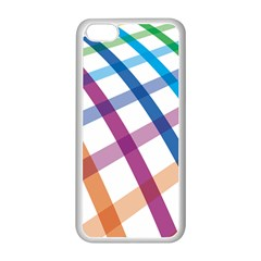 Webbing Line Color Rainbow Apple Iphone 5c Seamless Case (white) by Mariart