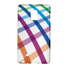 Webbing Line Color Rainbow Galaxy Note Edge by Mariart