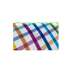 Webbing Line Color Rainbow Cosmetic Bag (xs) by Mariart