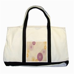 Star Sunflower Floral Grey Purple Orange Two Tone Tote Bag