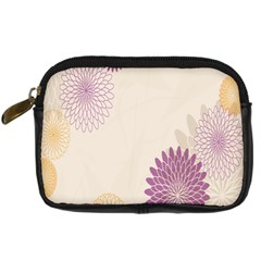 Star Sunflower Floral Grey Purple Orange Digital Camera Cases by Mariart