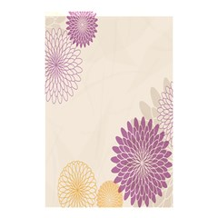 Star Sunflower Floral Grey Purple Orange Shower Curtain 48  X 72  (small)  by Mariart