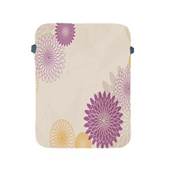 Star Sunflower Floral Grey Purple Orange Apple Ipad 2/3/4 Protective Soft Cases by Mariart