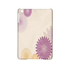 Star Sunflower Floral Grey Purple Orange Ipad Mini 2 Hardshell Cases by Mariart