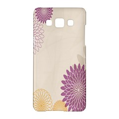 Star Sunflower Floral Grey Purple Orange Samsung Galaxy A5 Hardshell Case  by Mariart