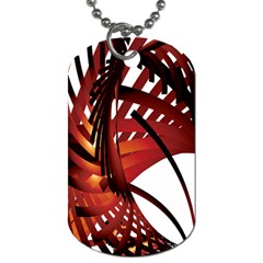 Webbing Red Dog Tag (one Side) by Mariart
