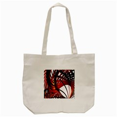 Webbing Red Tote Bag (cream)