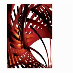 Webbing Red Large Garden Flag (two Sides) by Mariart