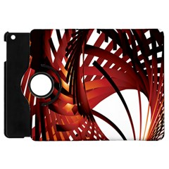 Webbing Red Apple Ipad Mini Flip 360 Case by Mariart