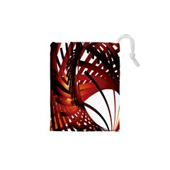 Webbing Red Drawstring Pouches (xs)  by Mariart