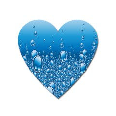 Water Bubble Blue Foam Heart Magnet by Mariart