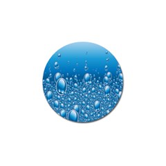 Water Bubble Blue Foam Golf Ball Marker (4 Pack) by Mariart